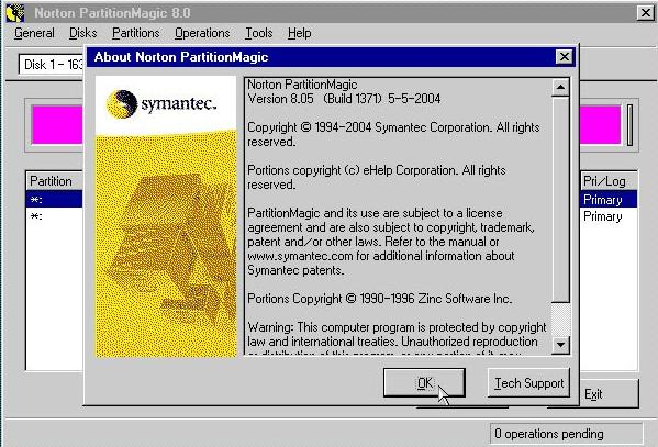 powerquest partition magic 8.0