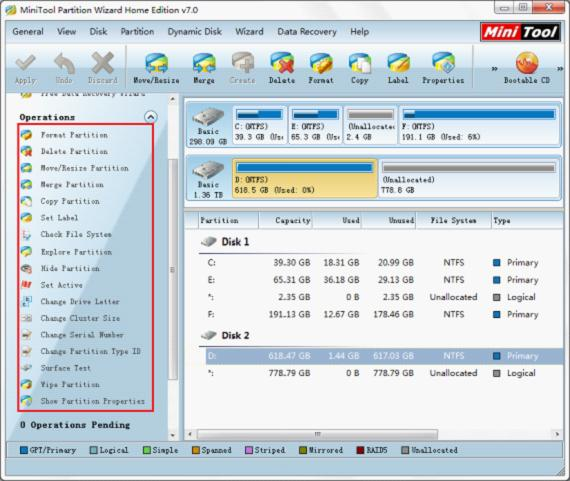 Manage hard disk drive partition with partition magic